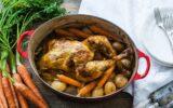 Pollo asado con verduras para hacer en cocotte