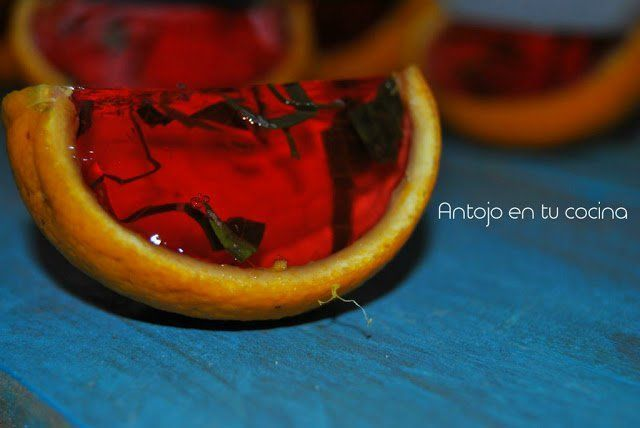 chupitos ron fresa y albahaca