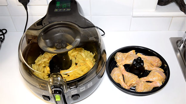 pollo y patatas Actifry 2 en 1