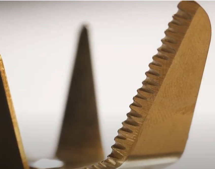 cuchillas de titanio